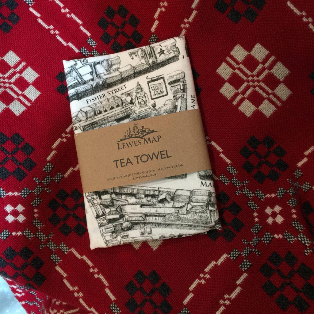 lewes-map-tea-towel