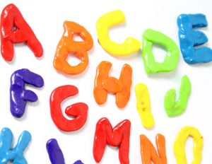 Alphabet clay magnets