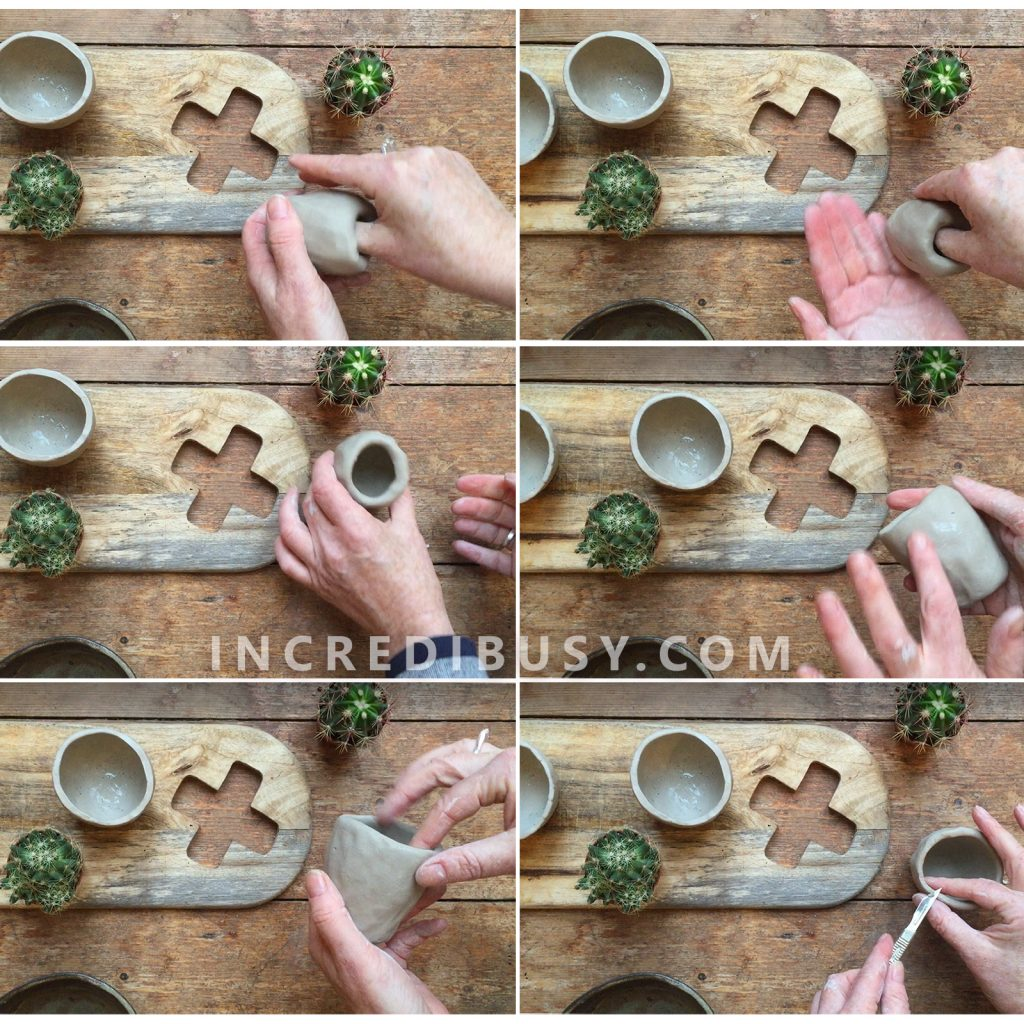 Pinch Pots Made From Air Drying Clay Incredibusy