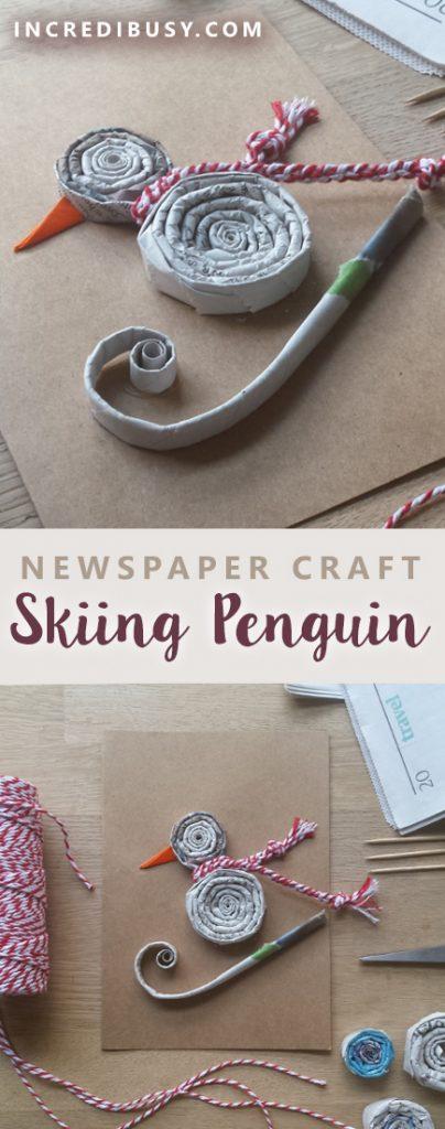 newspaper spirals crafts for Pinterest