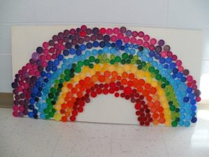 madebymolliesmom on funcraftskids rainbow bottle tops