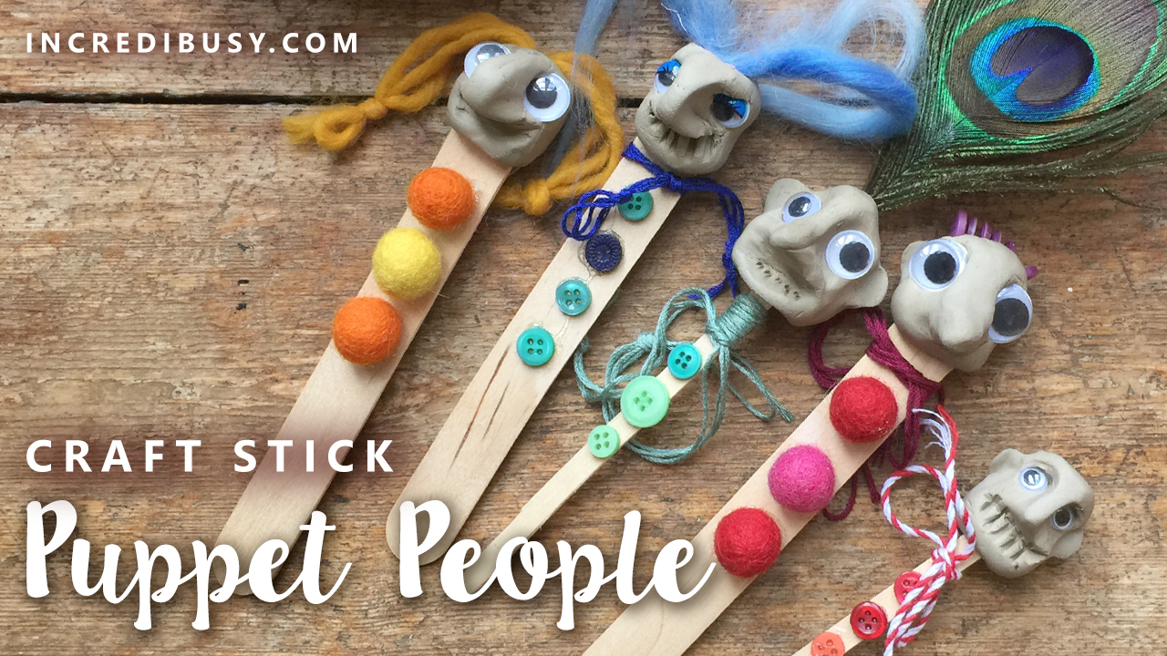 Craft Stick Clay Puppets