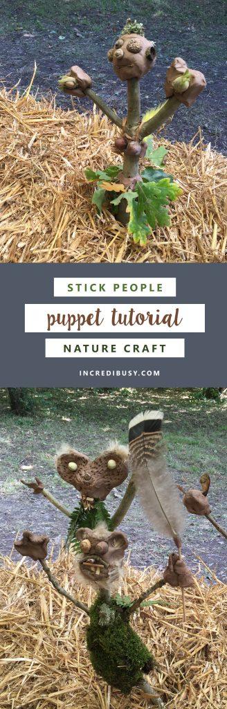 stick craft woodland puppet