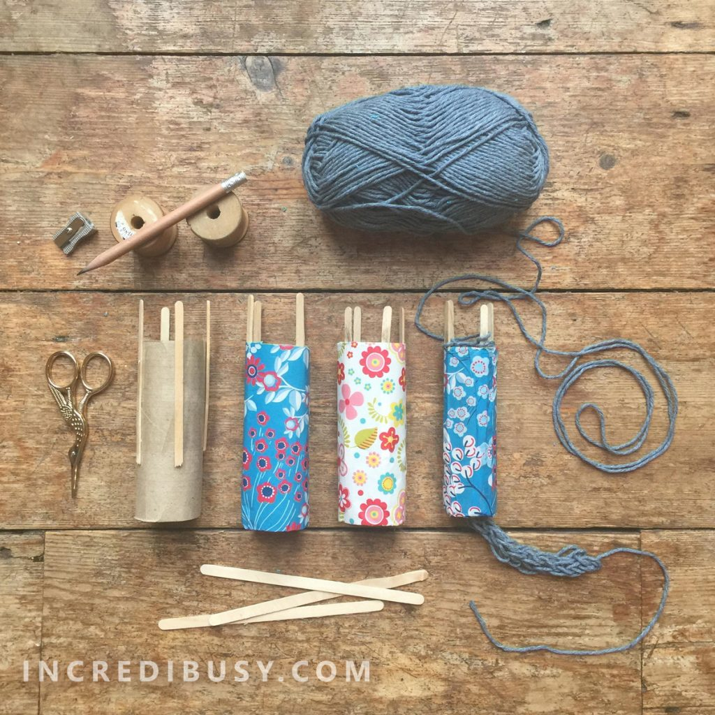 Toilet Paper Roll French Knitting Diy Incredibusy