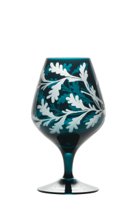 Duck Cognac Glass Peacock - Side 1