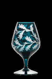 Duck Cognac Glass Peacock - Side 1