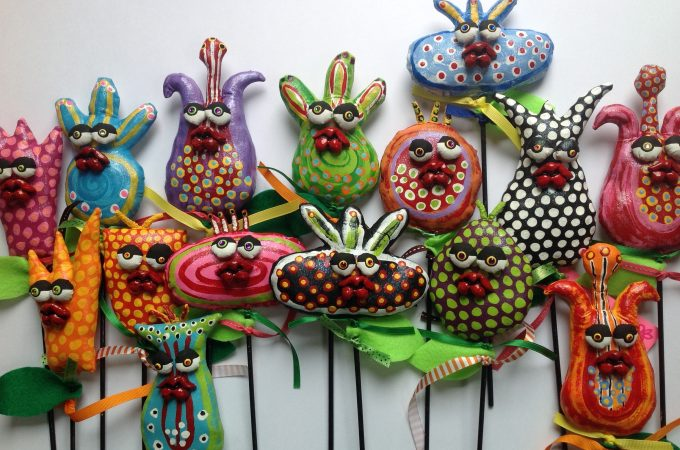 Jodie Flowers amazing upcycled birds