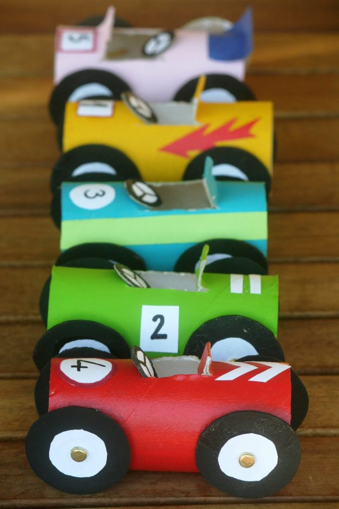 toilet roll crafts cars