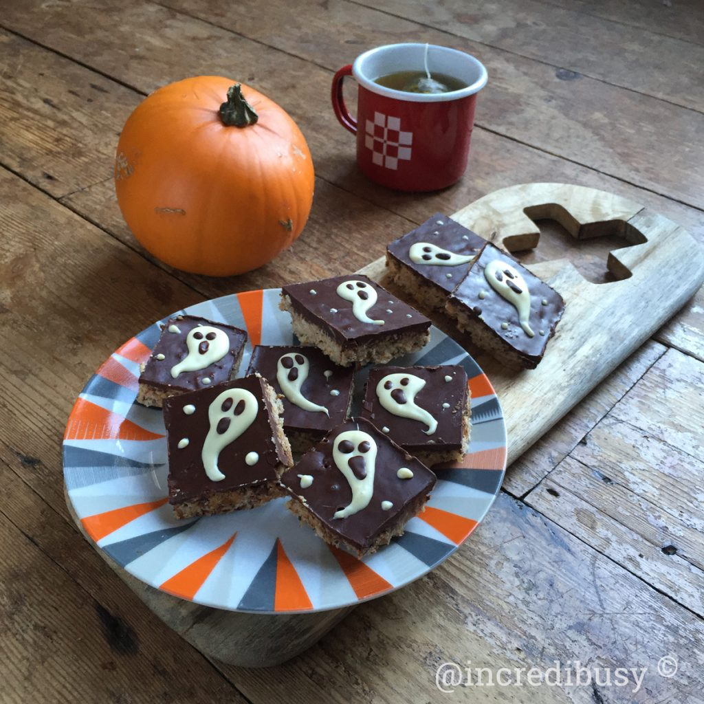 Ghostly Halloween Coconut Flapjacks