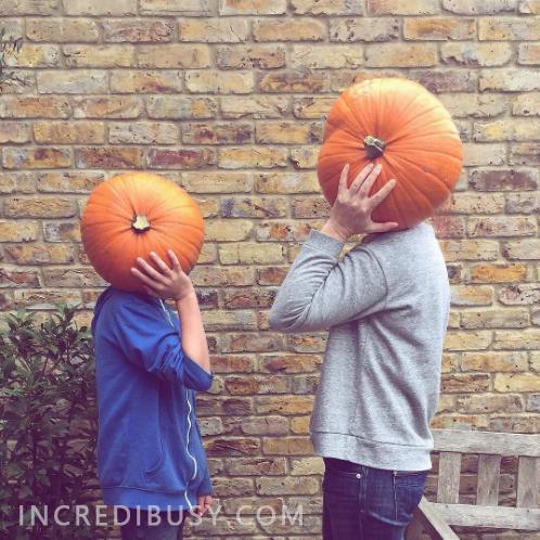Ali-and-Ronnie-pumpkin-heads
