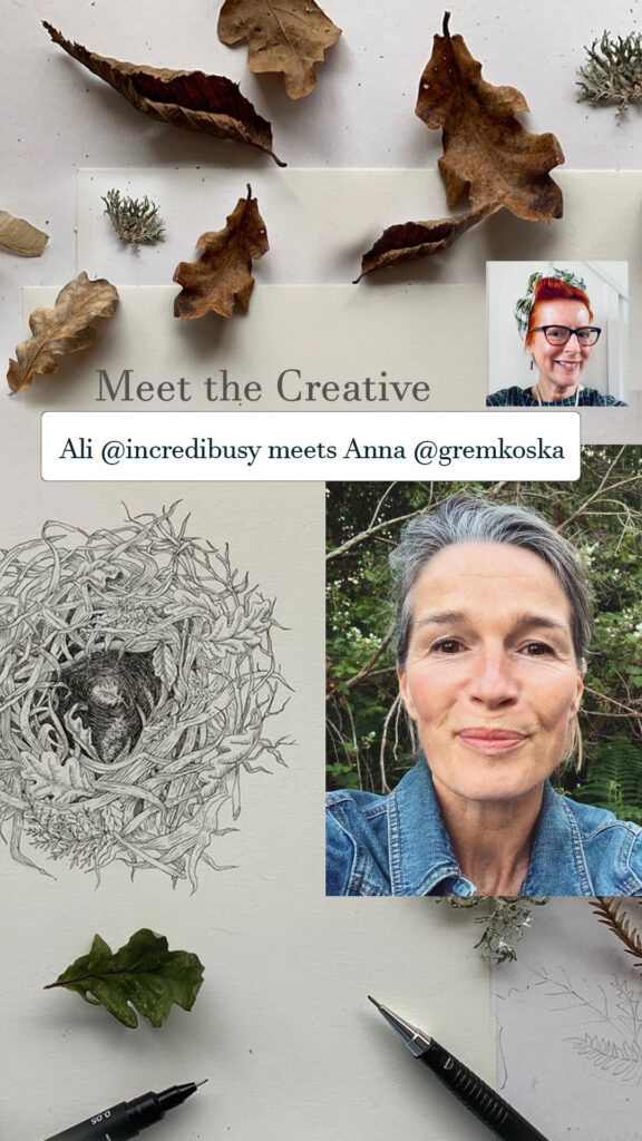 Episode 3 of #MeetTheCreative with guest Anna Koska @Gremkoska talking about her life as an illustrator and a sneak peek of her book 'from Field & Forest'.